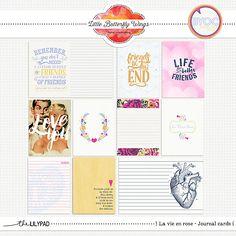 La vie en rose {journal cards} by Little Butterfly Wings