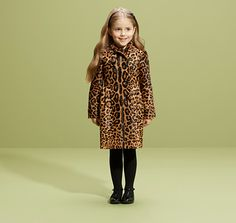 Kids Jaguar printed calf hair leather trenchcoat from Gucci £2,470