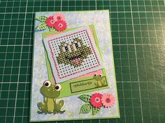 Cross Stitch Animals, Marianne Design, Frogs, Cross Stitch Embroidery, Hobbies, Stamp, Scrapbook, Cards, Punto De Cruz