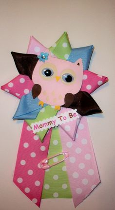 Owl Baby Shower Corsage  Girl  Owl Theme  Baby by CrazyCraftFrog