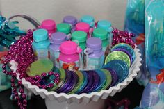 Favors at a Little Mermaid Party #littlemermaid #partyfavors
