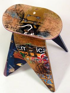Skateboard Stool, SkateOrDesign on Etsy | Chair Seating 2013 | Home Design And Interior