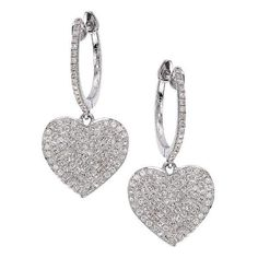 CR by Casa Reale 14 K Gold White Diamond Heart Hoop Earrings ($1,557) ❤ liked on Polyvore featuring jewelry, earrings, white, gold earrings, heart earrings, white earrings, heart hoop earrings and white diamond earrings