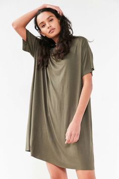 Silence + Noise Boxy Tee Dress - Urban Outfitters