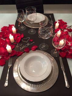Jantar romântico para o Dia dos Namorados.