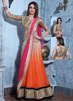 Orange Wedding Wear Lehenga Choli Supplier - Suratwholesaleshop.com   Wholesale Lehengas | Designer Heavy Lehengas | Bulk Lehengas