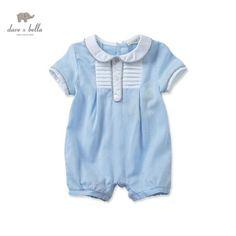91a837c7fb34 Baby Boy One Piece Blue Romper Baby Boy One Pieces