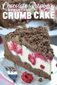 Chocolate Raspberry Cheesecake Crumb Cake is delicious dessert for chocolate lovers. If you love cheesecake, chocolate cake, coffee cakes or crumb cakes, this delicious combo of those three desserts packed in one yummy cake will sweep you of your feet. Light Desserts, Just Desserts, Delicious Desserts, Delicious Chocolate, Chocolate Desserts, Chocolate Lovers, Cake Chocolate, Cheesecake Recipes, Dessert Recipes