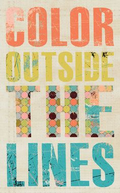 Color Outside the Lines by Jennifer McCully - contemporary - artwork - Etsy
