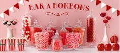 Bar à bonbons (vente bonbons, sacs à confiseries, bonbonnières...)
