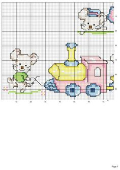 This Pin was discovered by Kri Cross Stitch Pillow, Cross Stitch Baby, Cross Stitch Animals, Baby Embroidery, Cross Stitch Embroidery, Embroidery Patterns, Cross Stitch Numbers, Cross Stitch Alphabet, Cross Stitch For Kids