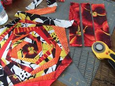 Crafty Sewing & Quilting: Work in Progress - Large Scale Print Fabric and stripes or plaids!