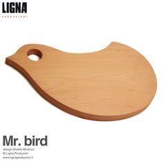 Mr. bird tagliere realizzato in legno di LignaProduzioni su Etsy, €38.00