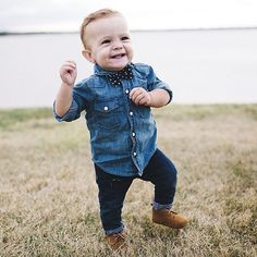 look dapper in denim. for a chance to be featured, tag @gapkids in your photos. photo by @amowens23.