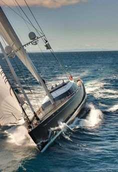 The superyacht is also certainly one of the most significant luxury sailing yachts in the world. The Dubois designed fly bridge luxury yacht Kokomo III reflects Yacht Design, Catamaran, Yacht Boat, Sail Away, Set Sail, Wooden Boats, Tall Ships, Water Crafts, Sailing Ships