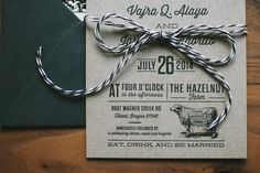 Vintage Kraft Letterpress Wedding Invitation  by WideEyesPaperCo, $3.00