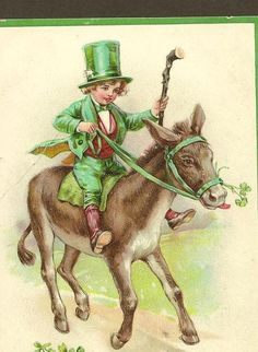 St Patrick's Day Vintage Tuck Postcard In the by TheOldBarnDoor
