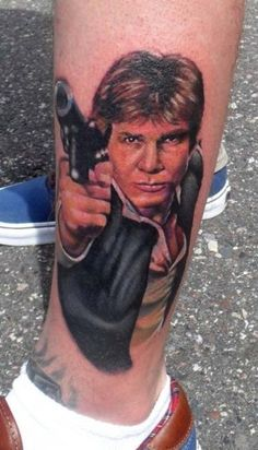 I would tattoo Harrison Ford on me. He's awesome