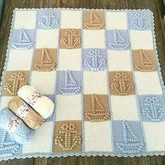 Good morning, we wish you happy friends tomorrow Bobble Stitch Crochet, Crochet Doily Rug, Afghan Crochet Patterns, Crochet Home, Baby Knitting Patterns, Crochet Stitches, Baby Boy Crochet Blanket, Baby Boy Blankets, Crochet Baby