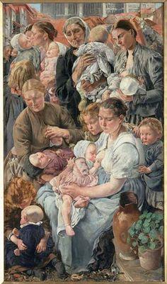 Léon Frédéric (Belgian, 1856-1940). Right panel of the triptych Les Ages de l'ouvrier, 1895-97. Musée d'Orsay, Paris