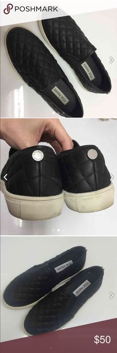 Steve Madden quilted slip ons Excellent condition-the ONLY sign of wear is on the bottom of the soles! Steve Madden Shoes Sneakers