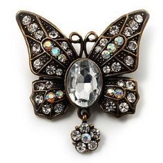 lovely butterfly accessories with vintage rhinestones ...