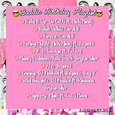 One time for the birthday chick Music Mood, Mood Songs, New Music, Party Playlist, Song Playlist, Playlist Ideas, Throwback Songs, Birthday Goals, Song Recommendations