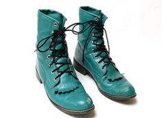 Size 8 5 M Teal Turquiose Texas All American Pacer by AnotherUse, $39.99