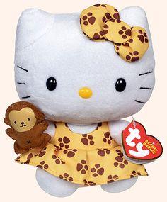 Hello Kitty (safari dress) - cat - Ty Beanie Babies