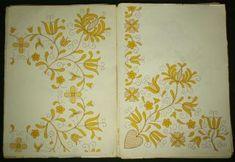 Polish Hand Embroidery Pattern Kaszuby Folk Costume Metallic Gold Bonnet Poland