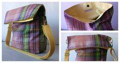 bolsos bag tasche hechos a mano tela loneta algodón estampados alegría calidad elegante color accesorios complementos Lolahn Handmade - Cuadros Malva