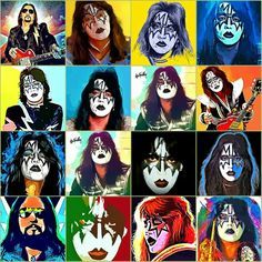 Ace The Space Frehley Kiss World, Vinnie Vincent, Eric Carr, Fuzzy Blanket, Peter Criss, Kiss Art, Hot Band, Ace Frehley, Concert Posters