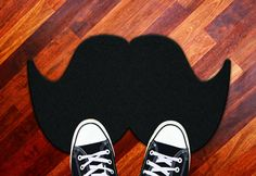 Amazon.com: Mustache Welcome Mat-Novelty Gag Doormat: Patio, Lawn & Garden