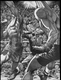"zegas: ""RIP Jack Davis "" One of the all time greats! Boxing Images, Boxing Posters, Jack Davis, Plakat Design, Comic Styles, Drawing Practice, Sports Art, Anime, Comic Artist"