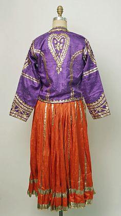 India, Dance ensemble,  silk, silver, late 19th c