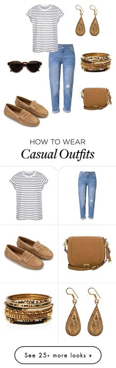 """""""Casual & Comfy"""" by denise-grimes on Polyvore featuring WithChic, Tod's, Urbiana, RetroSuperFuture and Brahmin"""