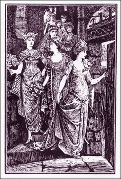 Henry Justice Ford ~ The Twelve Dancing Princesses ~ The Red Fairy Book by Andrew Lang ~ 1890