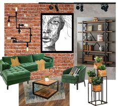 Open Space Office, Loft Office, Ikea Office Storage, Brick, Bookcase, Collage, Shelves, Interior, Design