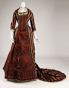 Silk Afternoon Dress - French   c.1878-1880   -   The Metropolitan Museum Of Art