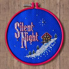 Silent Night Cross Stitch Pattern  Instant Download PDF