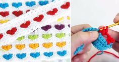 It looks complicated, but it couldn't be easier to make hearts melt with this stitch