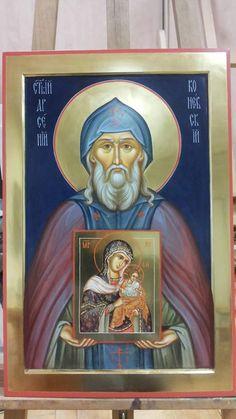 Fresco, Saints, Orthodox Icons, Byzantine, Angels, Baseball Cards, God, Style, Russia