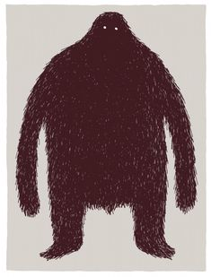 Tom Gauld - the hairy monster - Click to see all three images.  This is great!