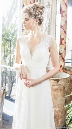 charlotte balbier 2018 bridal sleeveless v neck sweetheart neckline full embellishment romantic flowy skirt modified a line weddng dress sweep train (alora) zv -- Charlotte Balbier 2018 Wedding Dresses Charlotte Balbier, Blush Bridal, Bohemian Wedding Dresses, Flowy Skirt, Style And Grace, Home Wedding, Bridal Collection, Marriage, Bridesmaid