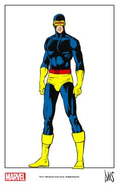 Cyclops by Paul Smith from The Official Handbook of the Marvel Universe #3 (1983) remastered by The Marvel Project.