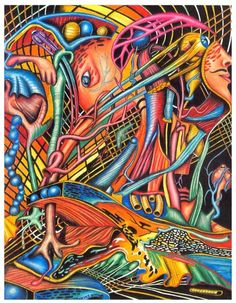 """""""Mortal Fiber"""" from my anatomy art drawing collection in colored pencil."""