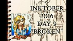 "INKTOBER DAY 9 ""BROKEN"" | 2016 | by Kristina Karlsen Brekke"