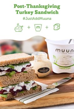 #JustAddMuuna cottage cheese to the classic post-Thanksgiving Turkey Sandwich! We all love putting leftover turkey and cranberry sauce between two slices of bread the day after Thanksgiving, but why not add cottage cheese as a creamy spread rather than mayonnaise? It's protein-packed and layers well with the other ingredients. Happy lunching! To find Muuna cottage cheese near you, click here: http://muuna.com/find-us/