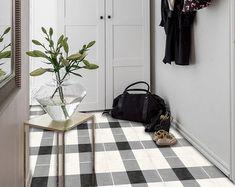 Tile Decals - Tiles for Kitchen/Bathroom Back splash - Floor decals - Vichy Tile Sticker Pack in Black Floor Decal, Floor Stickers, Tile Decals, Vinyl Tiles, Kitchen Tiles, Kitchen Design, Bathroom Splashback, Kitchen Flooring, Scrappy Quilts