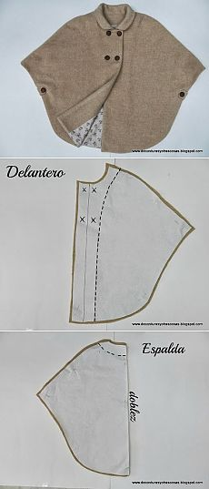 Mantella arrotondata #sewing #pattern #cartamodelli